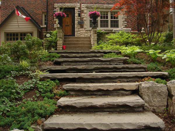 Leis Landscaping Yard : Outdoor stone stairs design ideas house and